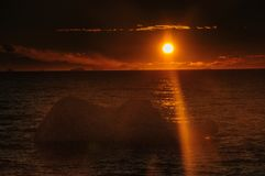 Sunset over the Weddell Sea stock photos