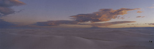 This is sunset over White Sands National Monument. Royalty Free Stock Images