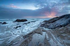 Sunset over Whitsand Bay Stock Image