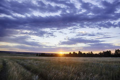 Sunset Over Wyoming Landscape Stock Images