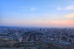 Yerevan city in autumn stock photos