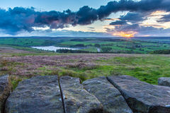 Sunset over Yorkshire Dales National Park Stock Photo