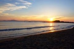 Sunset over Zakyntos island Royalty Free Stock Photos