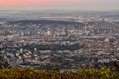 Sunset over Zurich, Switzerland Stock Image