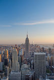 Sunset overlooking Manhattan Island Stock Photography