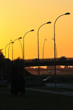 Sunset overpass Stock Image