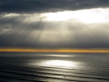 Sunset pacific. Sunset of pacific in west coast Oregon America royalty free stock photography
