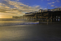 Sunset at pacific beach Royalty Free Stock Photos