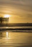 Sunset at pacific beach Stock Photo