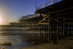 Sunset at pacific beach pier Stock Image