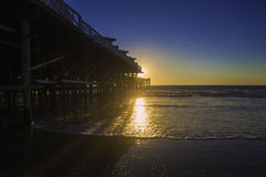 Sunset at pacific beach pier Royalty Free Stock Photos