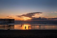 Pacific beach sunset Stock Photos