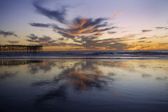 Sunset at pacific beach Stock Image