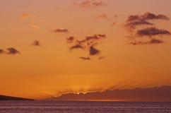 Sunset On The Pacific, Maui, Hawaii Stock Image