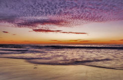 Sunset,Pacific Ocean, Del Mar, California Stock Photos