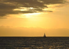 Sunset On Pacific Ocean Royalty Free Stock Photos