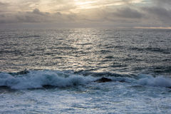 Sunset and Pacific Ocean in Northern California Stock Image