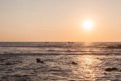 Sailing At Sunset, Pacific Ocean Royalty Free Stock Photo