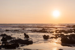 Sunset in the Pacific Royalty Free Stock Photography