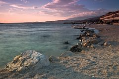 Sunset at Pag Royalty Free Stock Photography