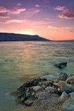 Sunset at Pag Stock Photos