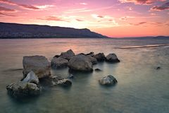 Sunset at Pag Royalty Free Stock Image