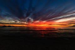 Sunset at Pagudpud stock photo