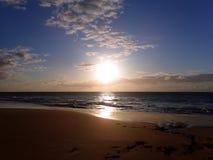 Sunset on Pahohaku Beach Royalty Free Stock Photography