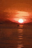 Sunset painting Royalty Free Stock Photo