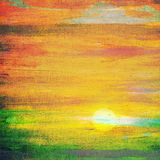 Sunset painting Stock Photo