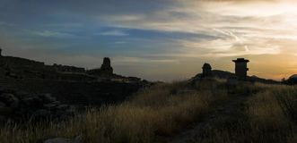 Xanthos Ancient Amphetheatre under sunset stock photos
