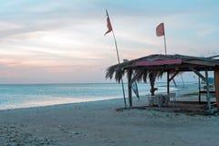 Sunset at Palm Beach on Aruba island Royalty Free Stock Photos