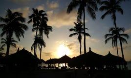 Sunset at Palm Beach Aruba Stock Photography