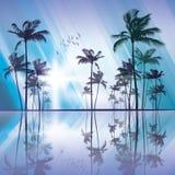 sunset palmowi drzewa ilustracji