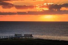Sunset Pamlico Sound Salvo North Carolina Outer Banks Stock Images