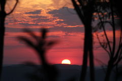 Sunset in the Pampa Region, southernmost state of Brazil Stock Photos