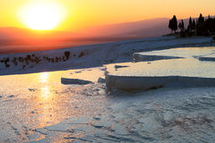 Sunset at Pamukkale Royalty Free Stock Photography