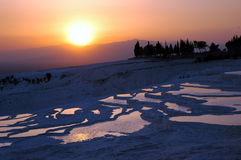 Sunset Pamukkale Turkey. Beautiful sunset in Pamukkale, Turkey Royalty Free Stock Photo