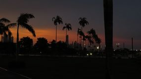 Sunset at Panama city Stock Photography