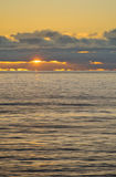 Sunset from the Pancake Rocks Stock Photo