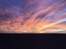 Sunset in the panhandle. Of Texas royalty free stock photography
