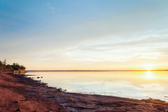 Sunset on Panmure Island's coast Royalty Free Stock Photography