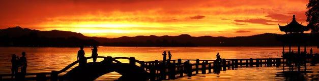 Sunset panorama Royalty Free Stock Photo