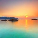Sunset panorama Stock Photo