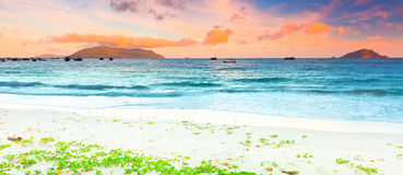 Sunset panorama royalty free stock images