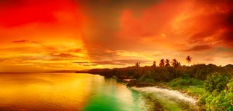 Sunset panorama Stock Image