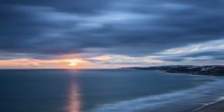 Sunset panorama, beach of Falesia. Stock Photo