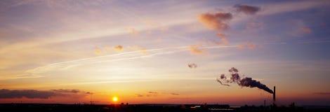 Sunset panorama Royalty Free Stock Photography