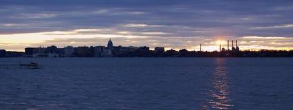 Sunset panorama of Madison Stock Photography