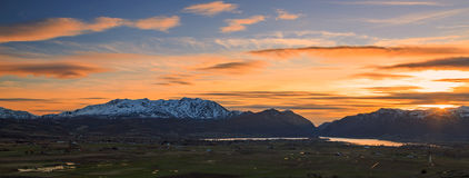 Sunset Panorama in the Ogden Valley. Stock Image